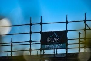 Peak Scaffolding design logo