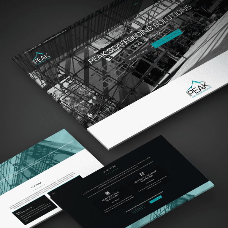 Peak scaffolding solutions graphic design logo on Desktop