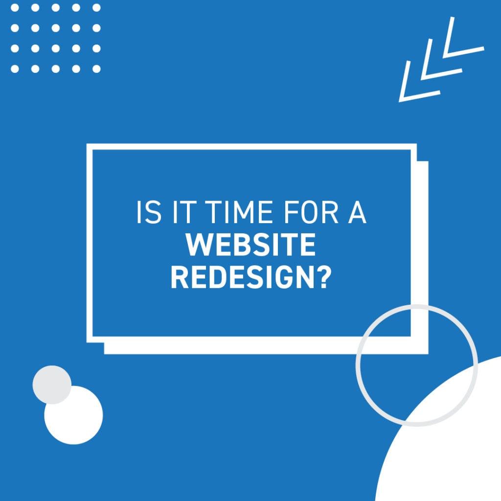 Website redesign tile