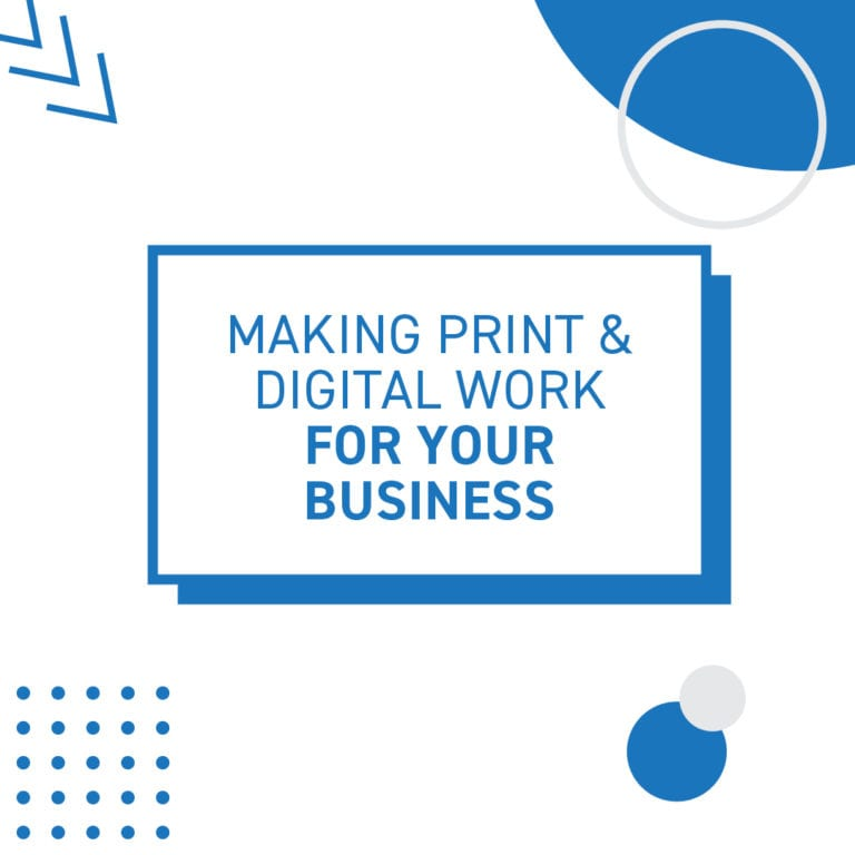 Print and digital collateral tile